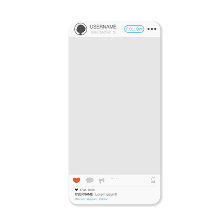 White custom made mobile phone with social media account screen