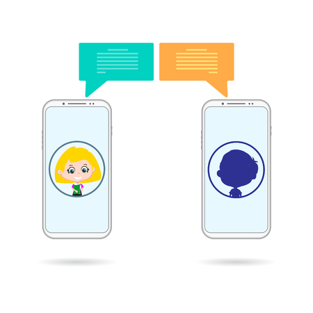 Unknown phones chating Illustration