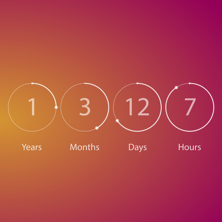 Years counter timer Illustration