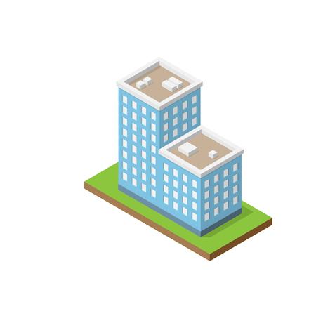 Isometric double building