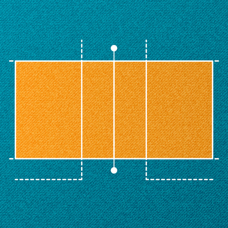 Volleyball court wallpaper Illustration