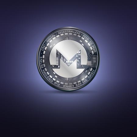 Monero metal coin