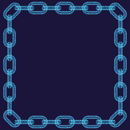 Abstract chain frame Illustration