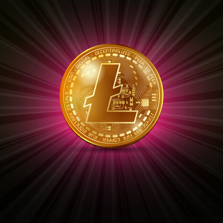 Litecoin golden coin