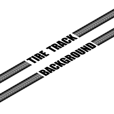 Black isometric tire track silhouette with sapmle text isolated on white background 일러스트