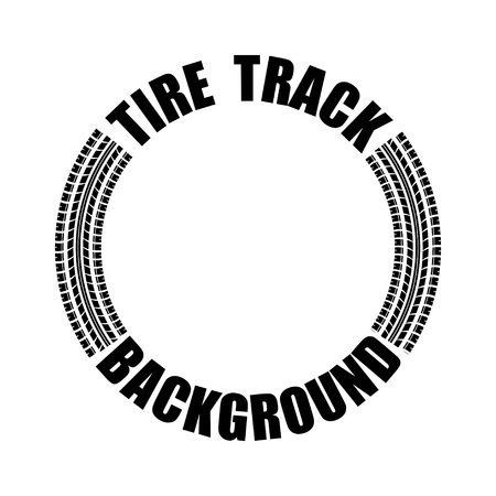 Tire track text circle