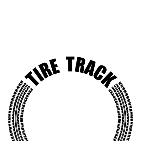 Circle tire track text