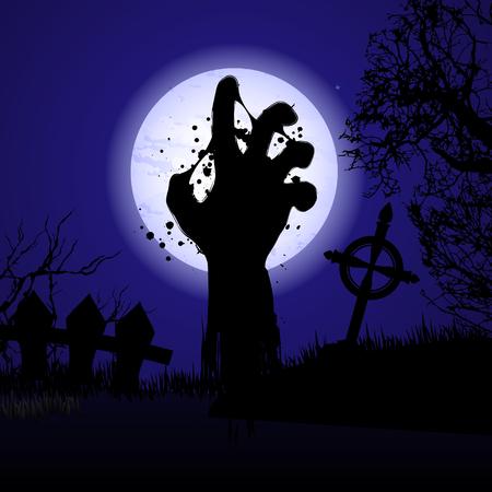 Halloween background hand