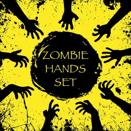 Zombie halloween hands