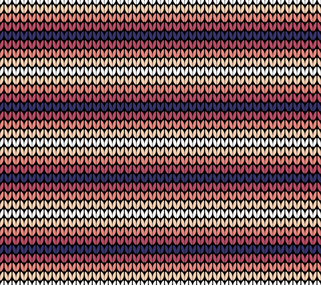 Abstract pink and violet seamless knitting pattern background