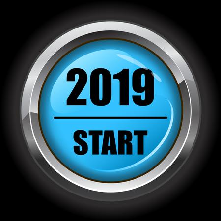 Blue 2019 start button
