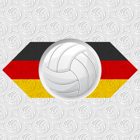 Volleyball Germany background