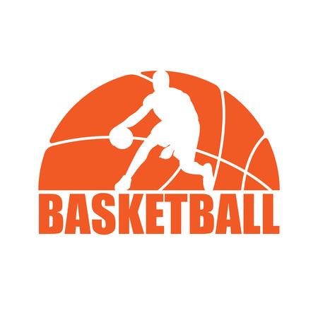 Basketball silhouette player