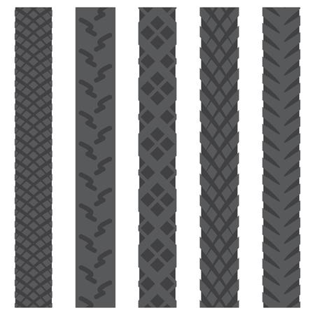 Bicycle gray tire tracks