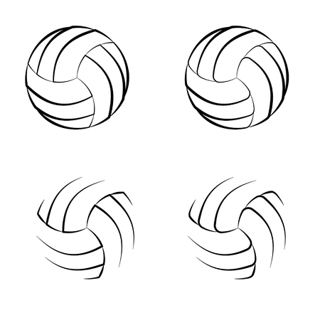 Volleyball outline symbols