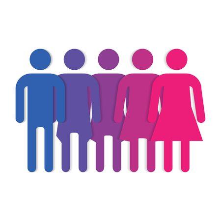 Gender symbol line