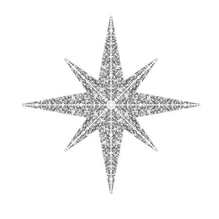 Black pattern windrose