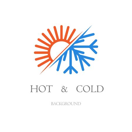 Hot and cold background