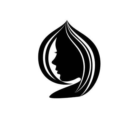 Abstract woman silhouette Ilustração