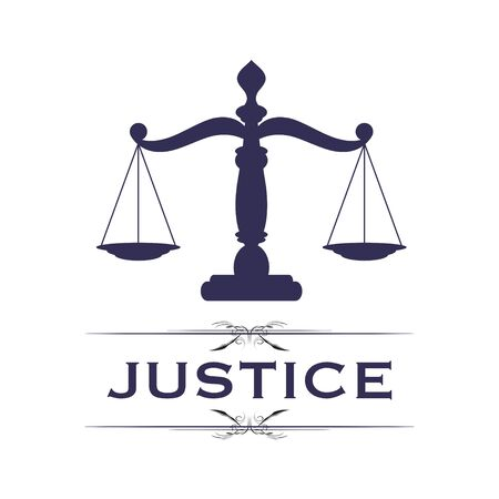 Scales of justice symbol Illustration