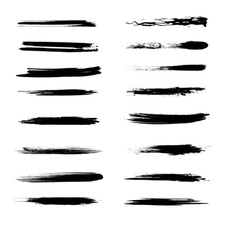 Abstract grunge brush lines set