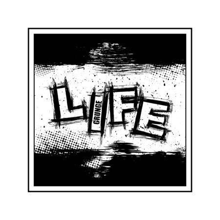 Life text grunge ink wallpaper