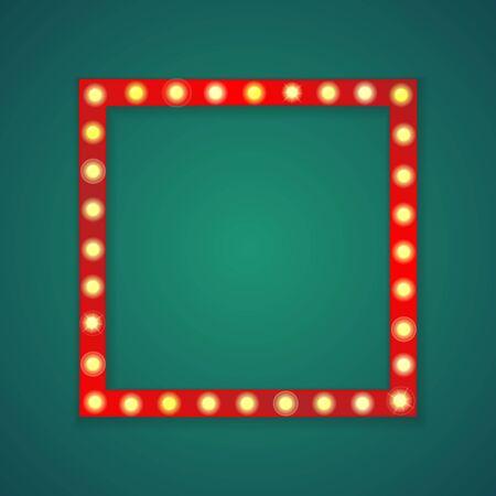 Fondo de marco cuadrado de luz roja