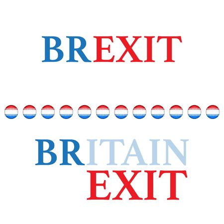 Brexit text background different colors