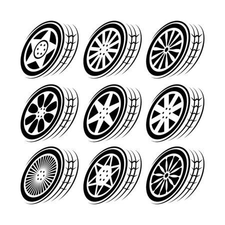 Wheel tire track movement set