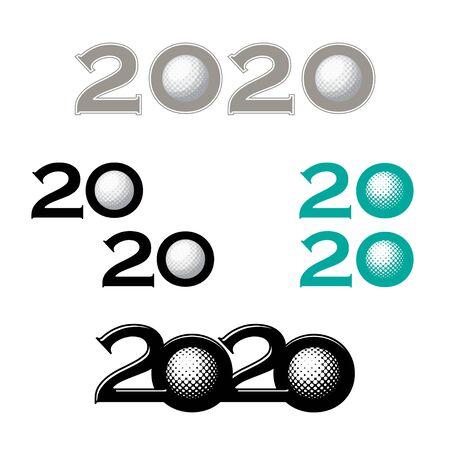 Golf symbol new 2020 year