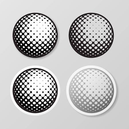 Golf symbol stickers set