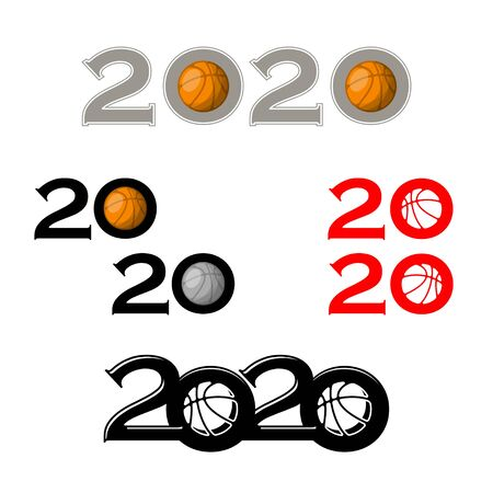 Basketball symbol new 2020 year
