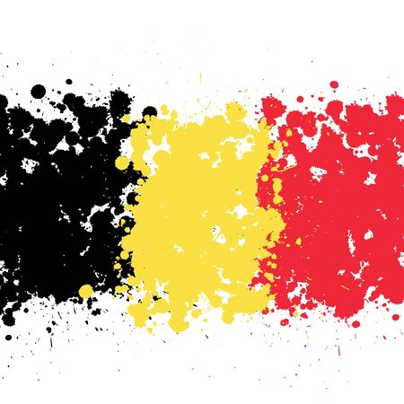 Grunge blots Belgium flag background