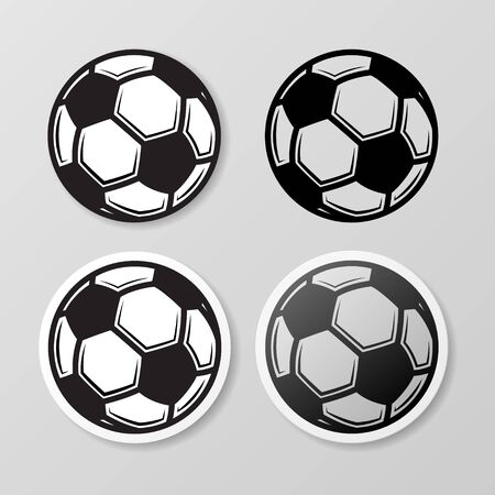Football symbol stickers set