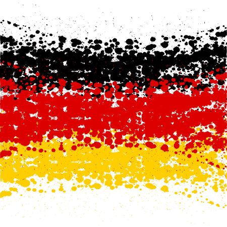 Grunge blots Germany flag background