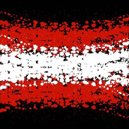 Grunge blots Austria flag background 向量圖像