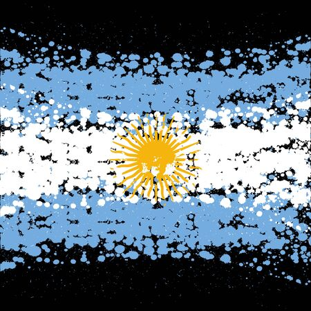 Grunge blots Argentina flag background 向量圖像
