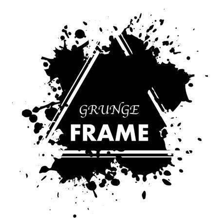 Ink blots grunge triangle frame 일러스트