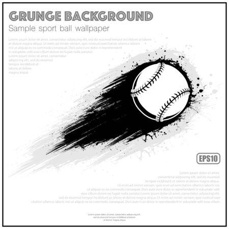 Grunge white baseball splash moving Фото со стока - 130909070