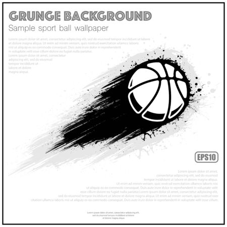 Grunge white basketball splash moving