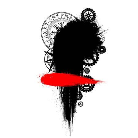 Grunge circle elements 向量圖像