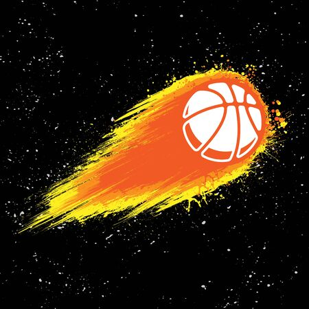 Spase comet basketball background