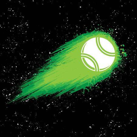 Space comet tennis background 向量圖像