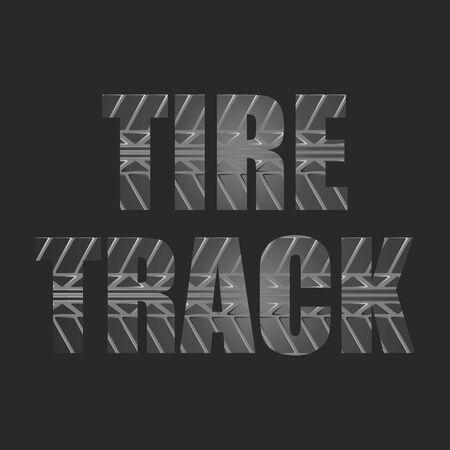 Black tire track background 向量圖像