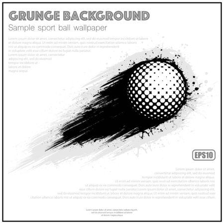 Grunge white golf splash moving 向量圖像