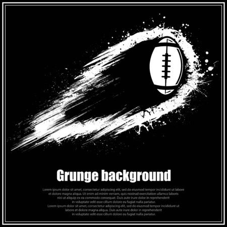 Grunge black american football background
