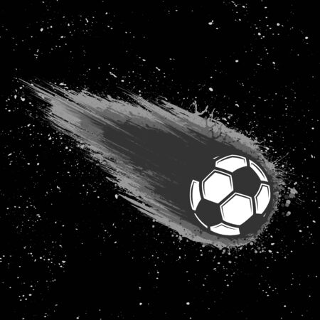 Space comet soccer background