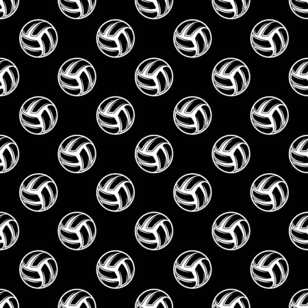 Seamless black volleyball background Ilustração