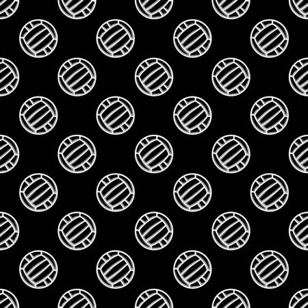 Seamless black waterpolo background Ilustração