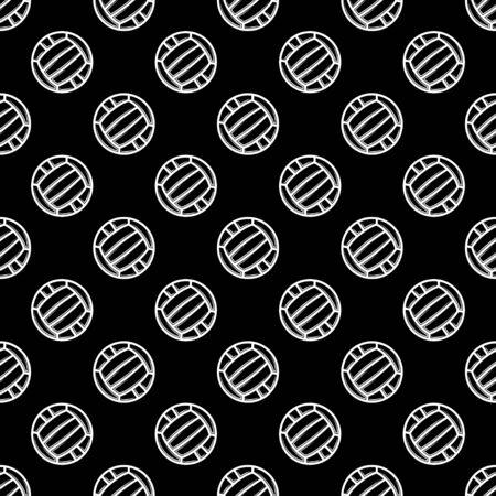 Seamless black waterpolo background Illustration